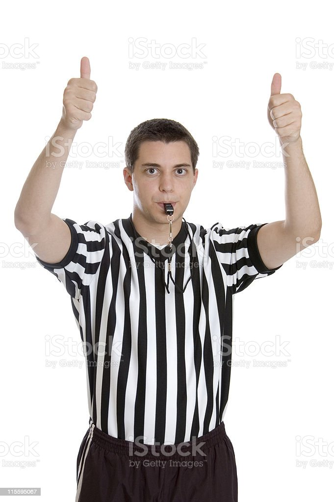 Teen Ref Series - Jump Ball stock photo