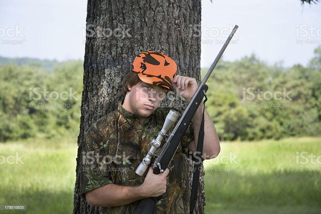 teen rifleman stock photo