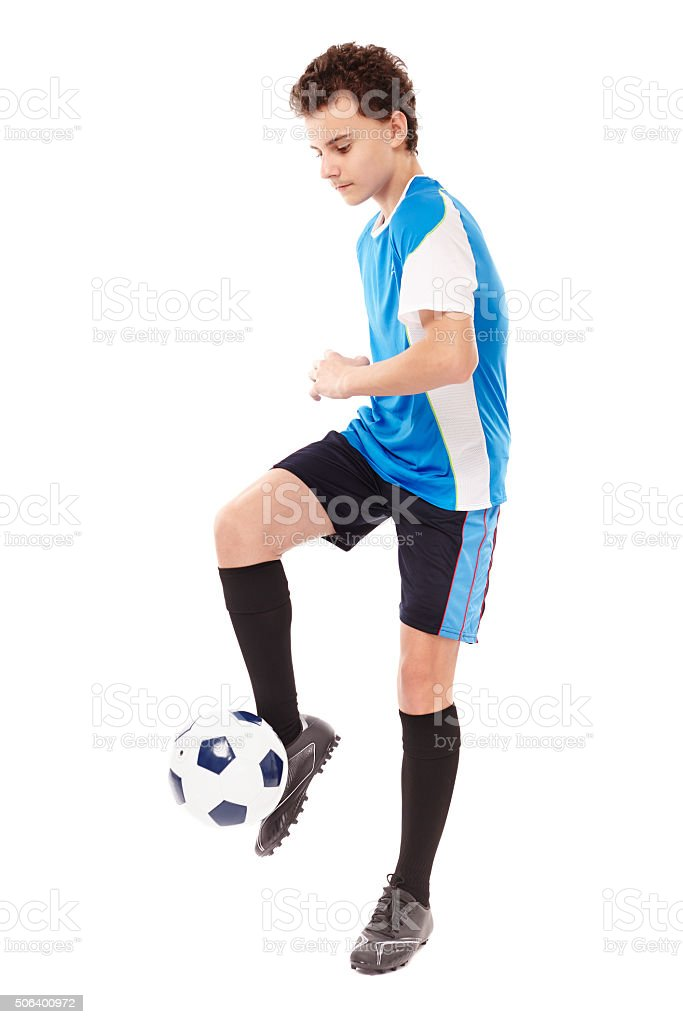 Teen soccer player stock photo