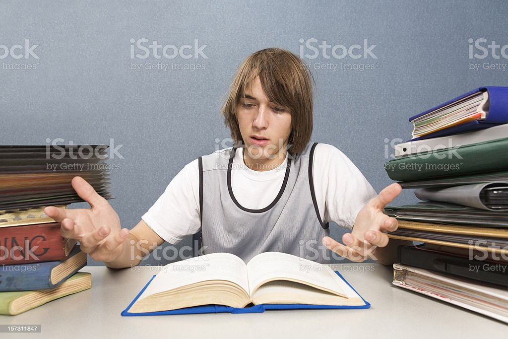 Teen student frustrated with homework: I don't get it! royalty-free stock photo