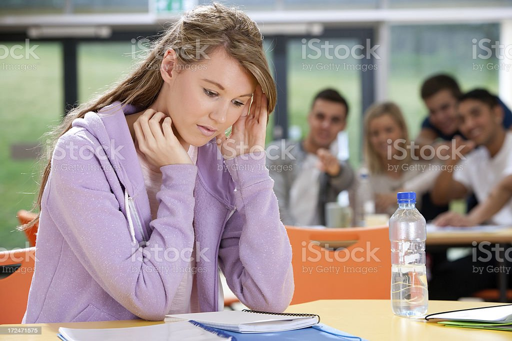 Teen student royalty-free stock photo