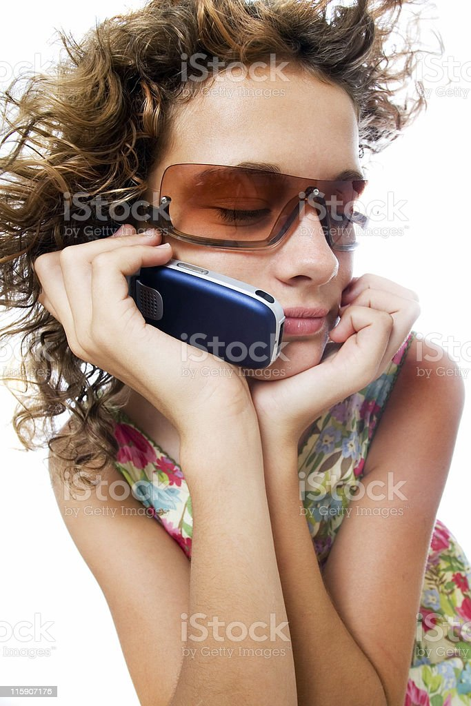 Teen talking royalty-free stock photo