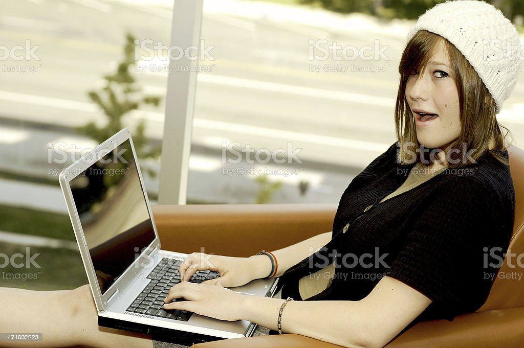 Teen Technology royalty-free stock photo