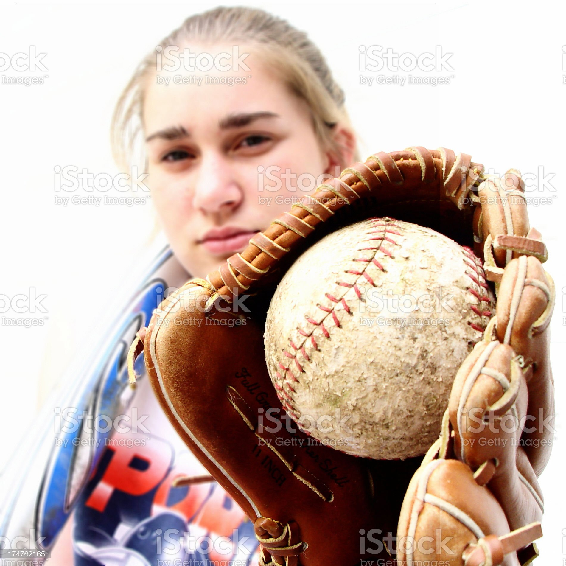 teen - the catch royalty-free stock photo