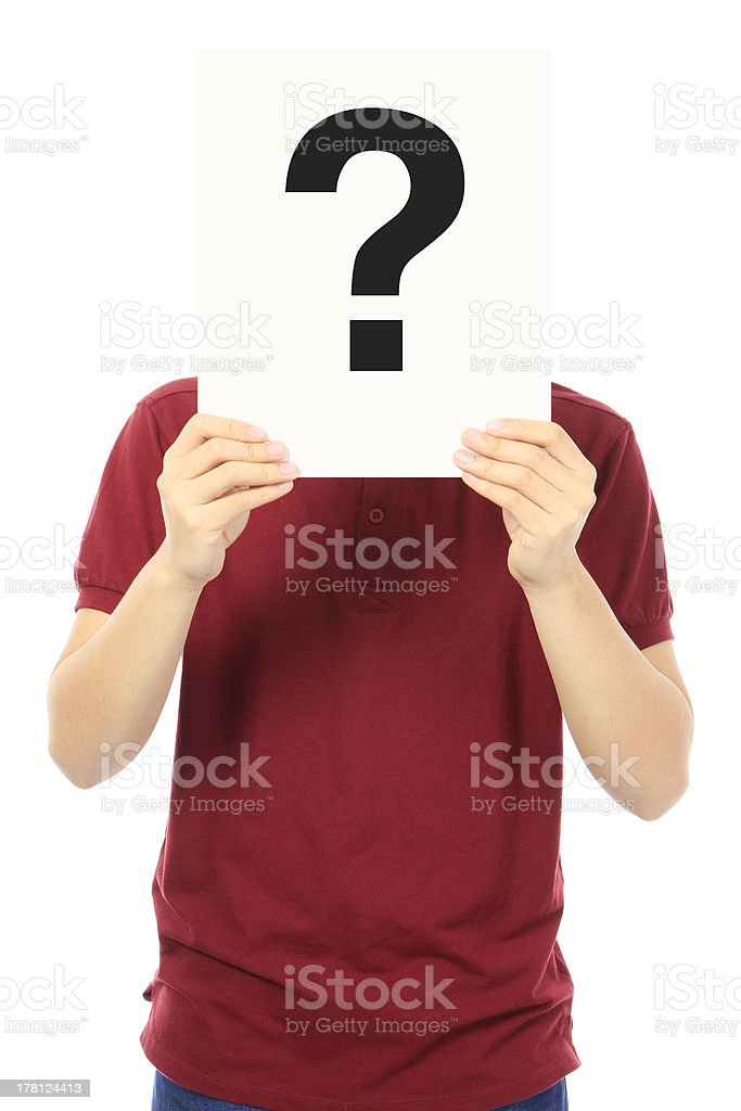Teen With A Question stock photo