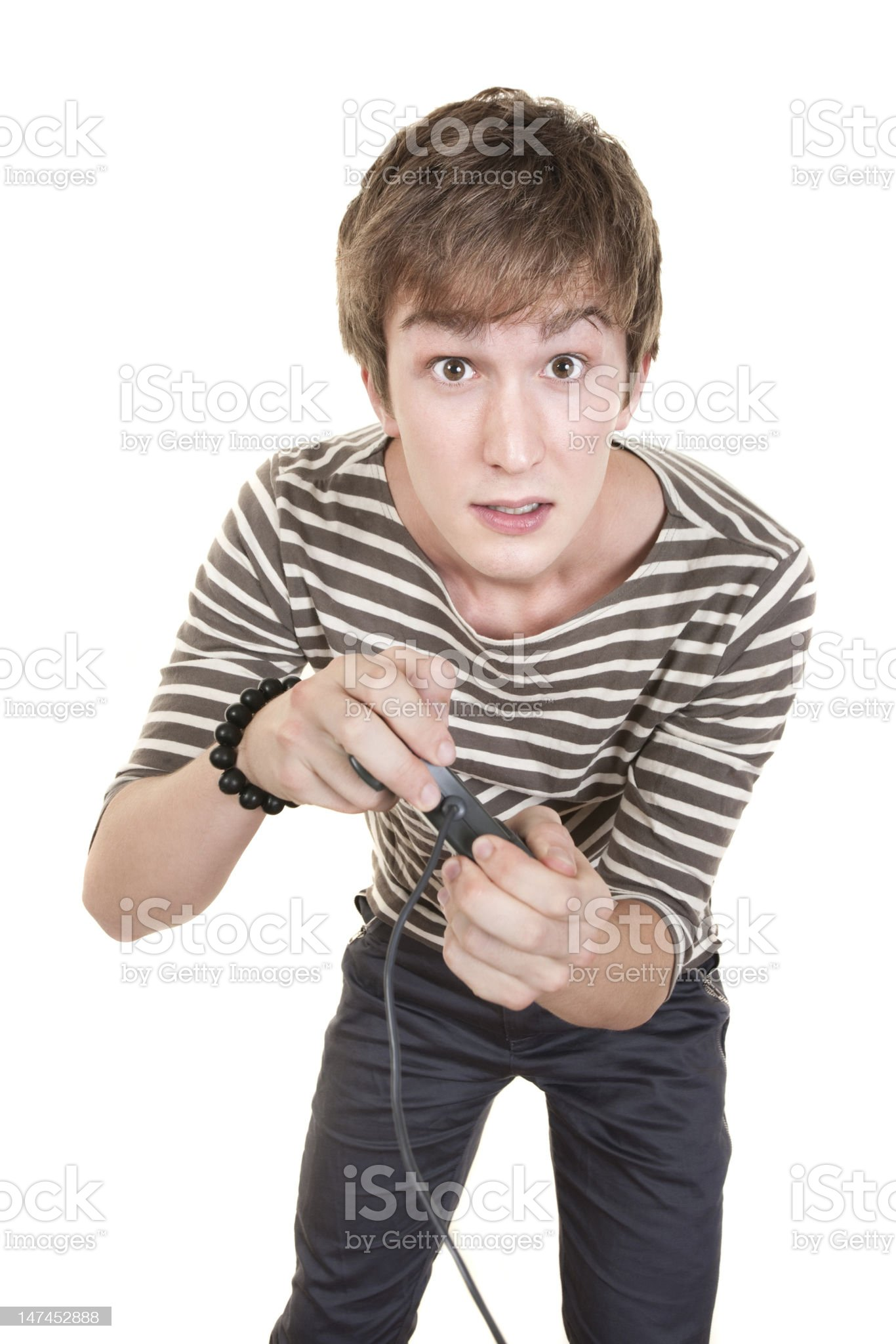 Teen With Game Controller royalty-free stock photo
