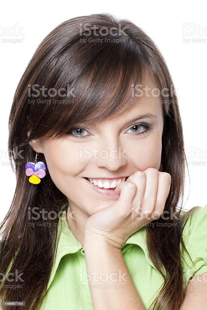 teen avec joli sourire photo libre de droits