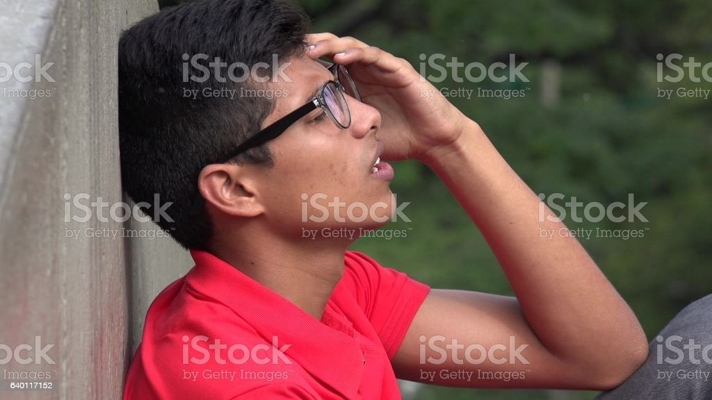 Teen With Stress And Anxiety stock photo