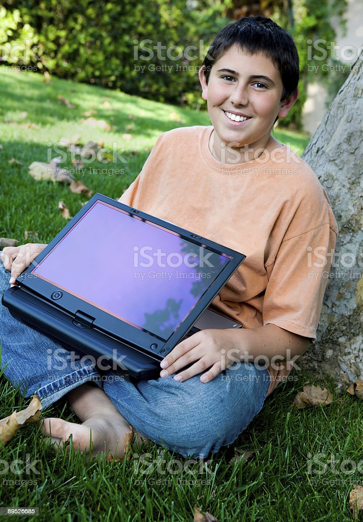 Teen with the new Convertible royalty-free stock photo