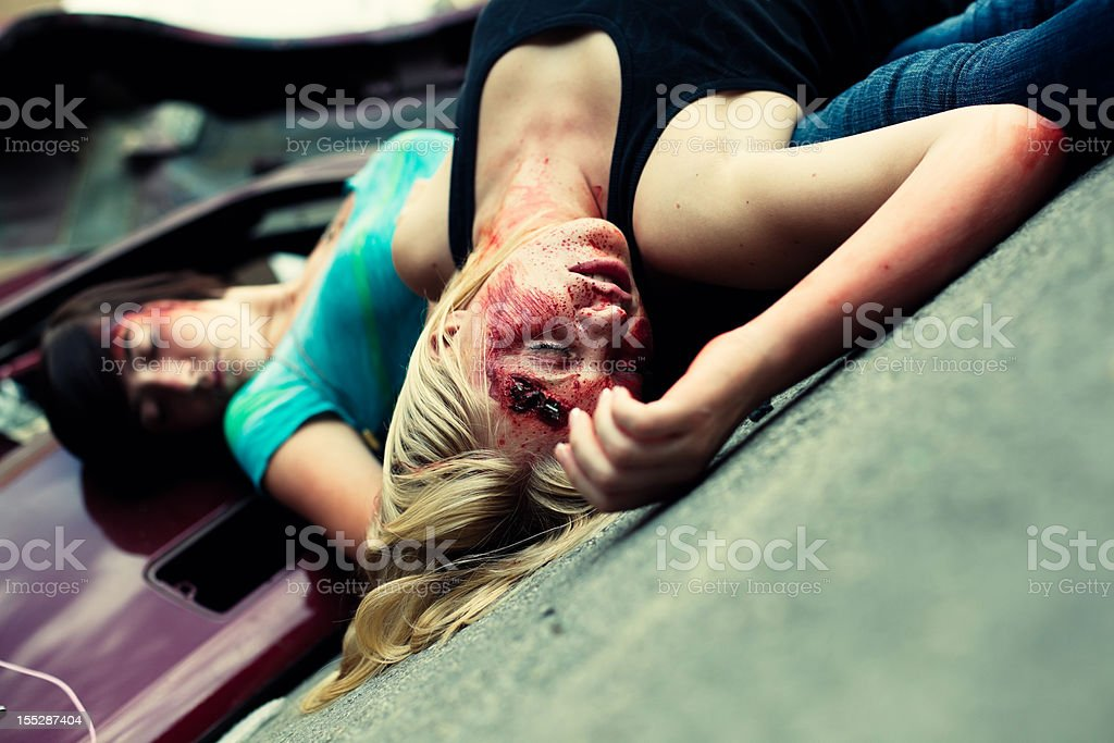 Teenage Automotive Accident Victims royalty-free stock photo