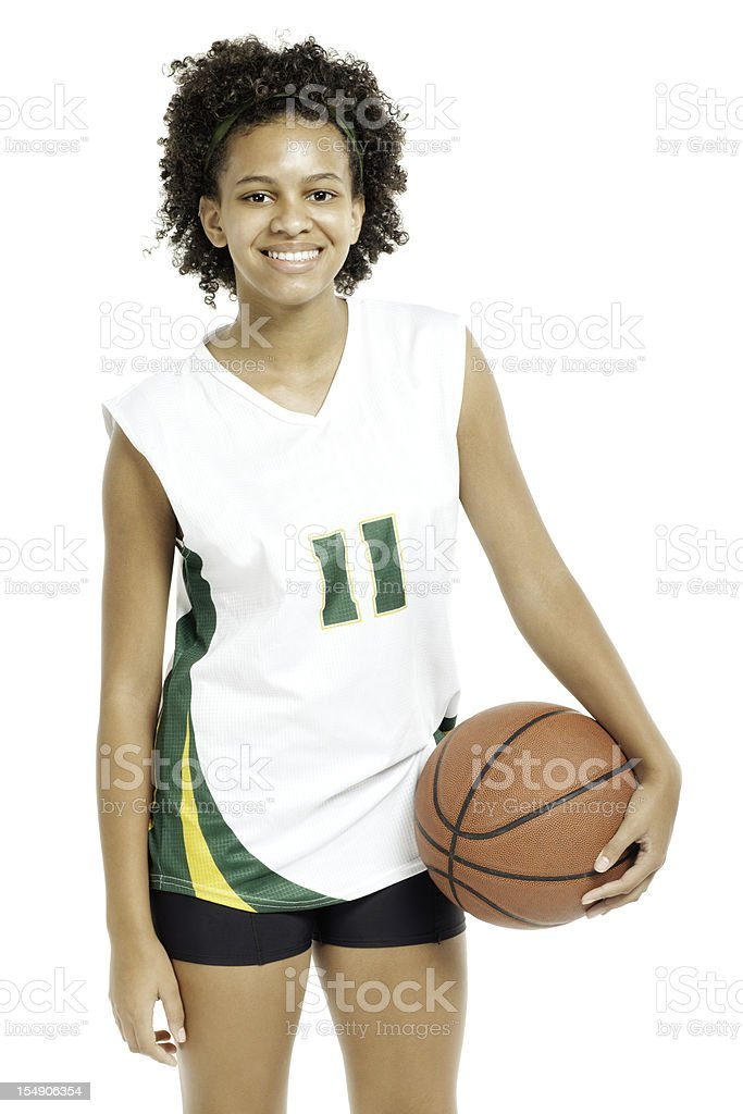 Teenage Basketball Player - Isolated stock photo