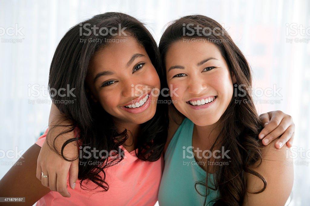 Teenage best friends royalty-free stock photo