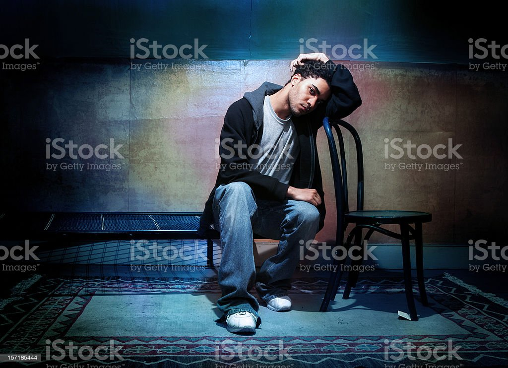 Teenage blues royalty-free stock photo