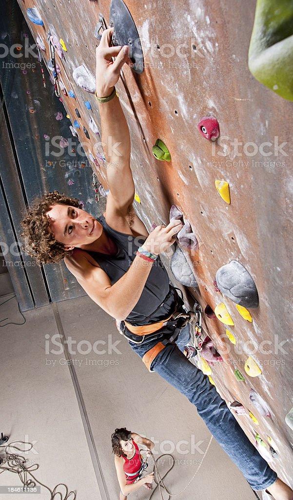 Teenage Boy Climbing royalty-free stock photo