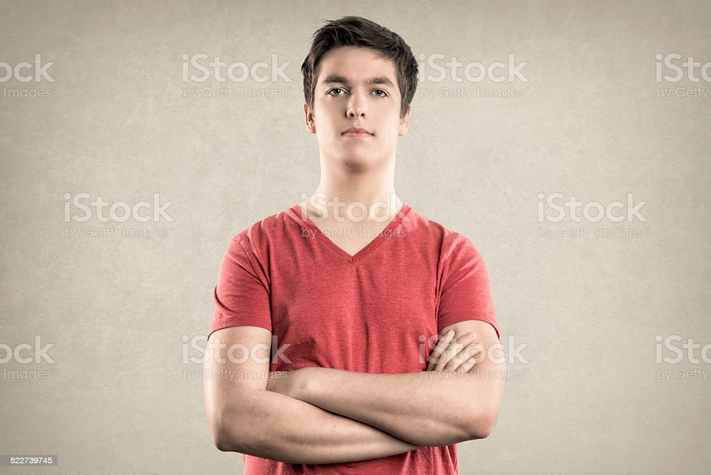 Teenage Boy - Expressions series - Neutral stock photo