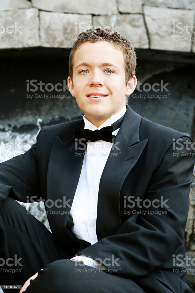 Teenage Boy in a Tux royalty-free stock photo