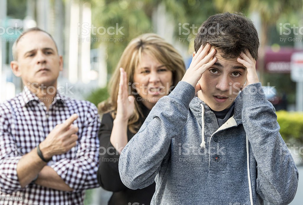 Teenage boy in troubles stock photo