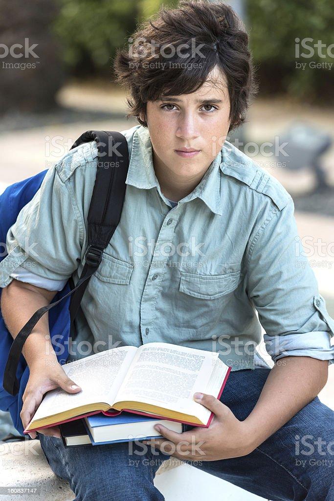 Teenage boy student royalty-free stock photo