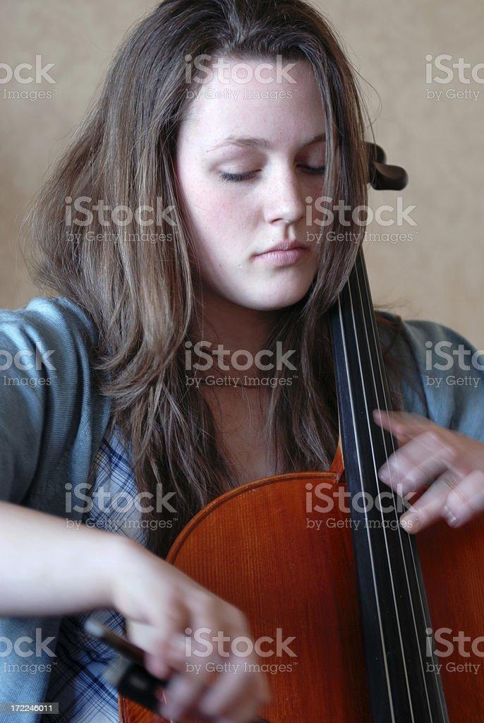Teenage Cellist 3 royalty-free stock photo