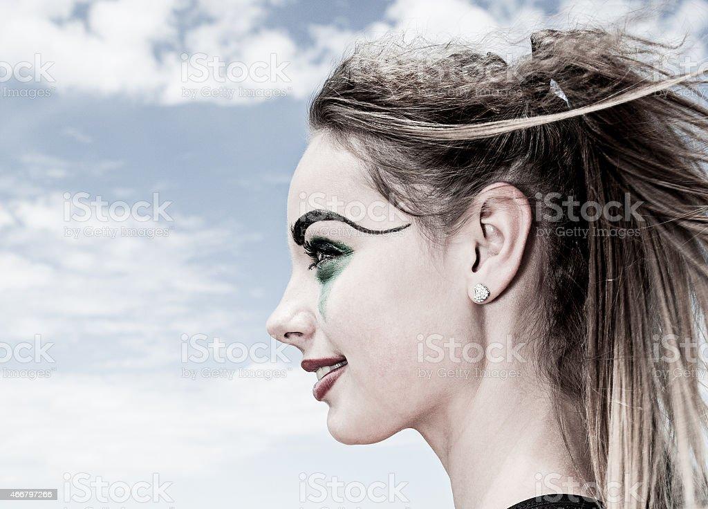 Teenage Clown stock photo