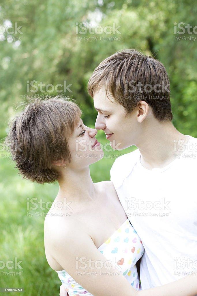 Teenage Couple In Love royalty-free stock photo