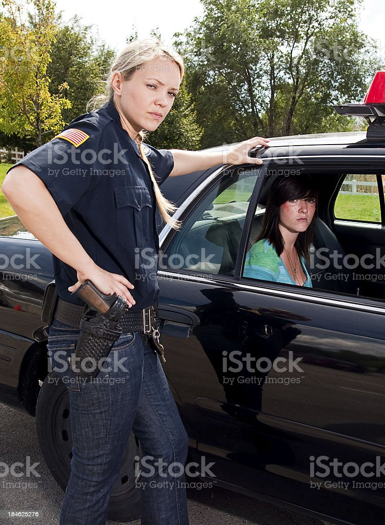 Teenage Criminal stock photo