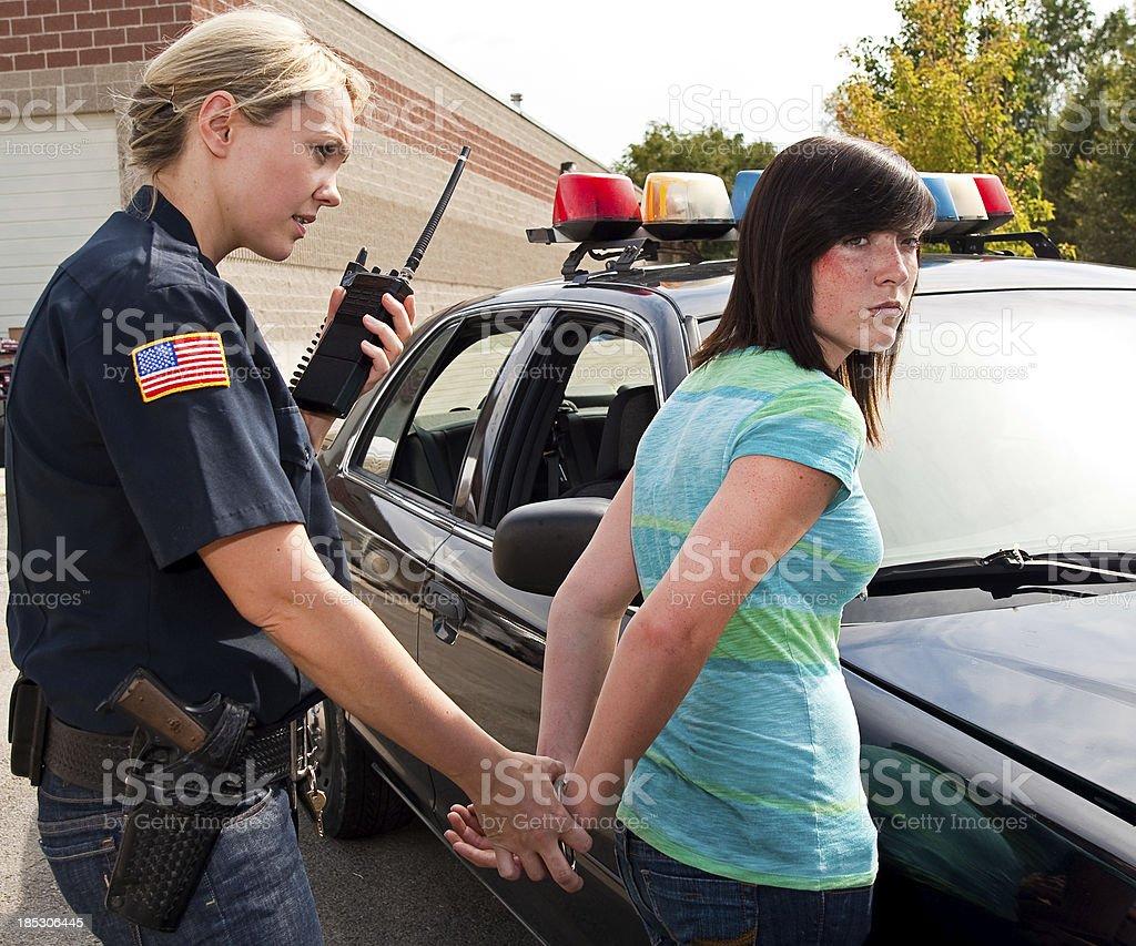 Teenage Criminal stock photo
