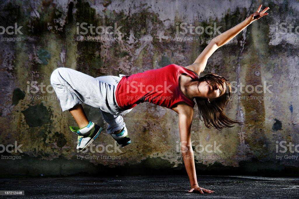 Teenage dancer stock photo