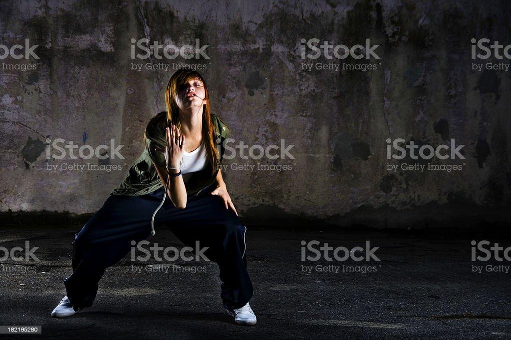 Teenage dancer royalty-free stock photo