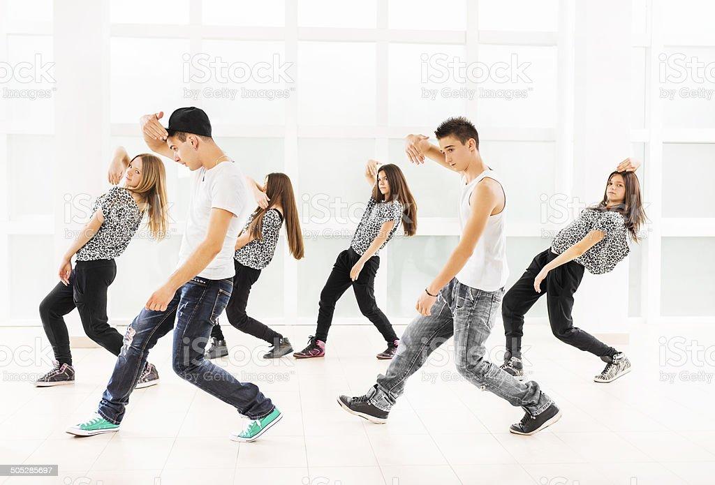 Teenage dancers. stock photo