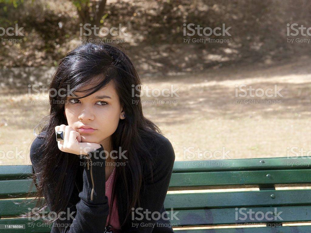 Teenage Depression royalty-free stock photo