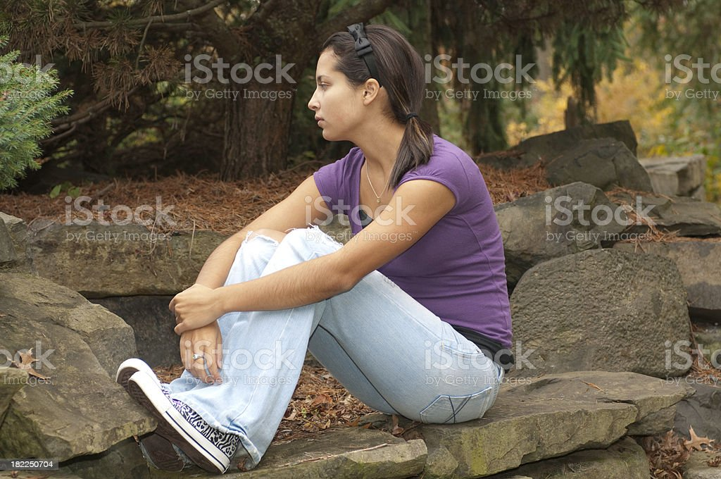 Teenage Depression royalty-free stock photo