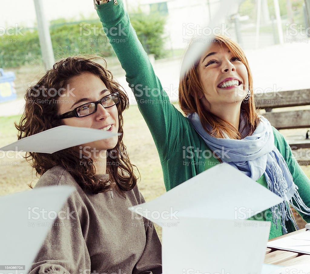 Teenage Female Students stock photo