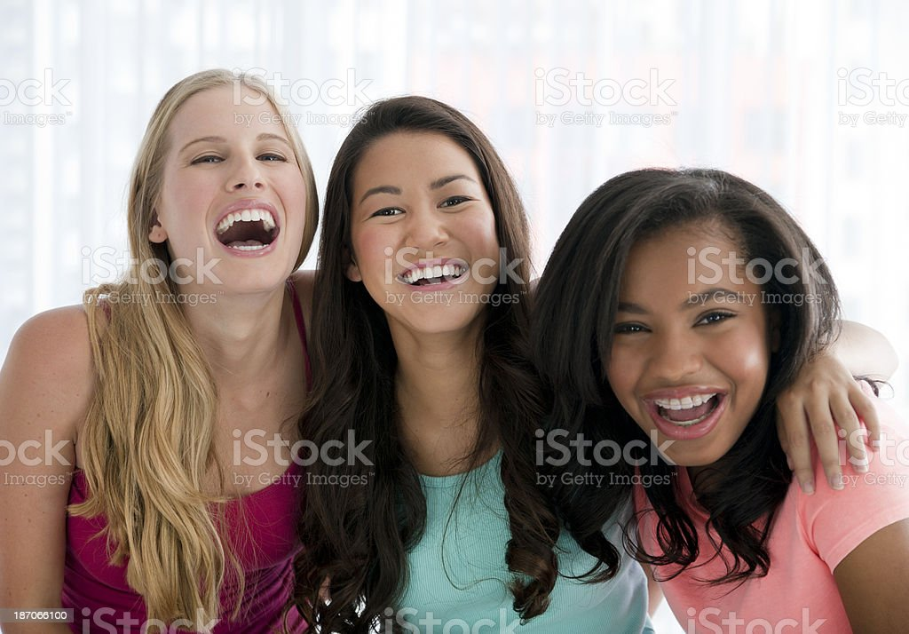 Teenage friends stock photo