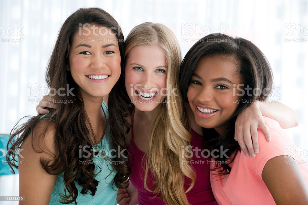 Teenage friends royalty-free stock photo