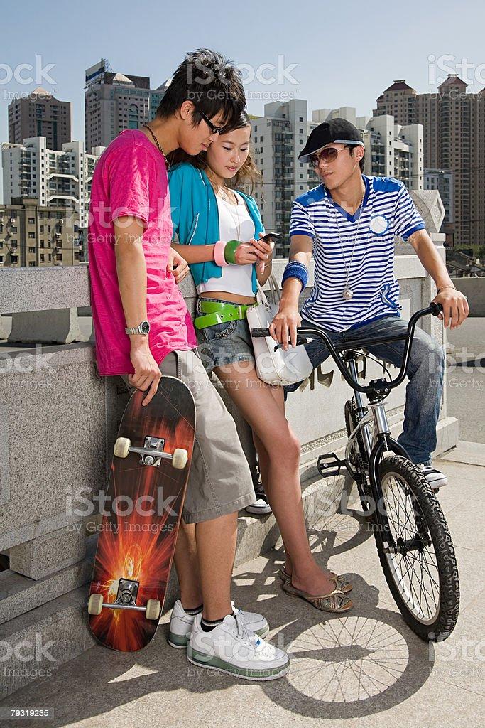 Teenage friends royalty-free stock photo