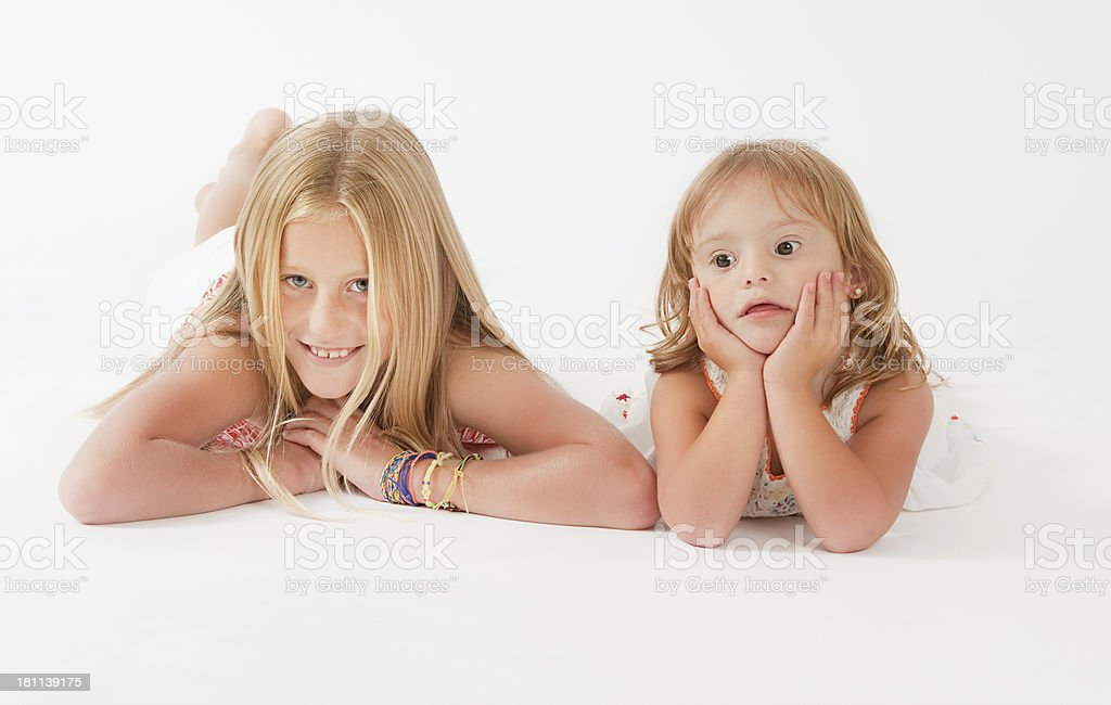 Teenage Girl and her sister royalty-free stock photo