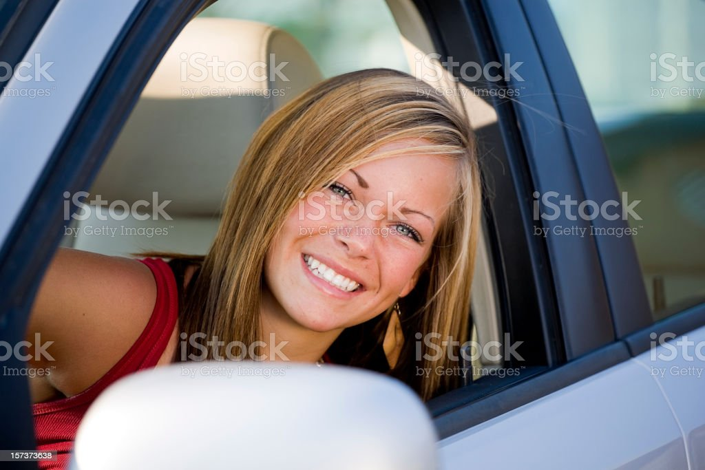 Teenage Girl Driver royalty-free stock photo