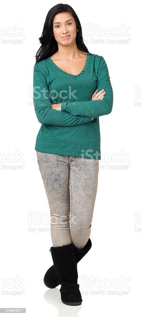 Teenage Girl Full Length Standing Portrait royalty-free stock photo