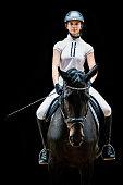 Teenage Girl Horseback Riding Equestrian Portrait