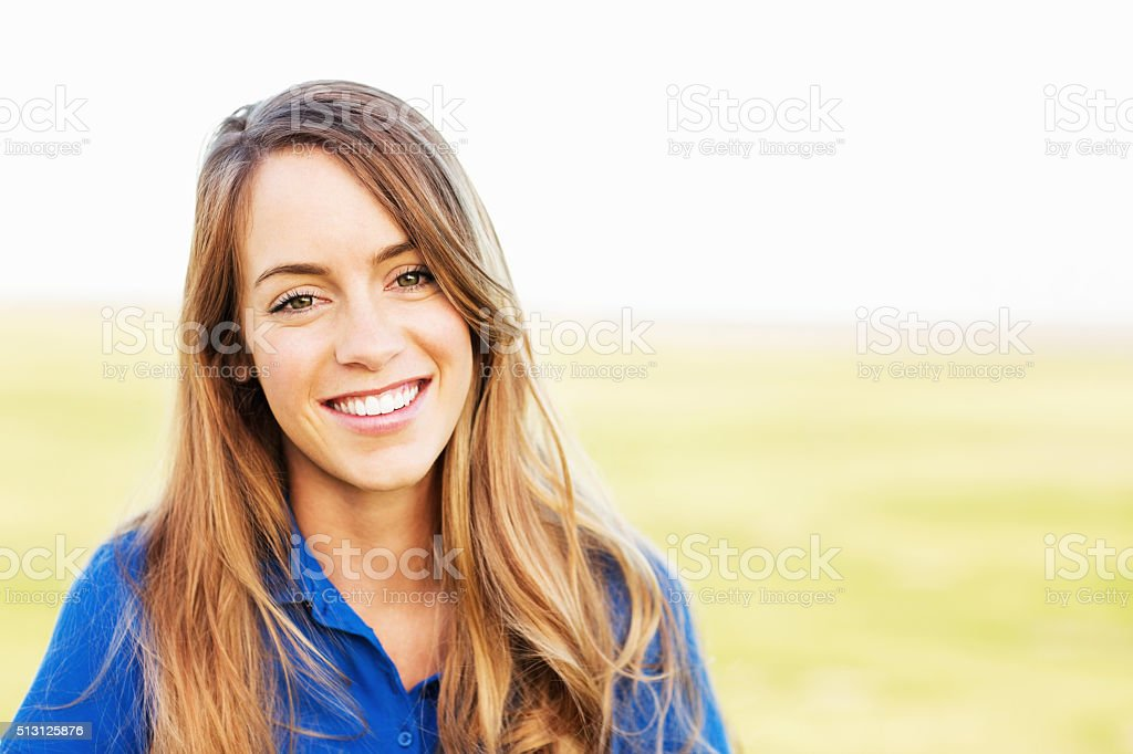Teenage Girl In Casuals At Park stock photo