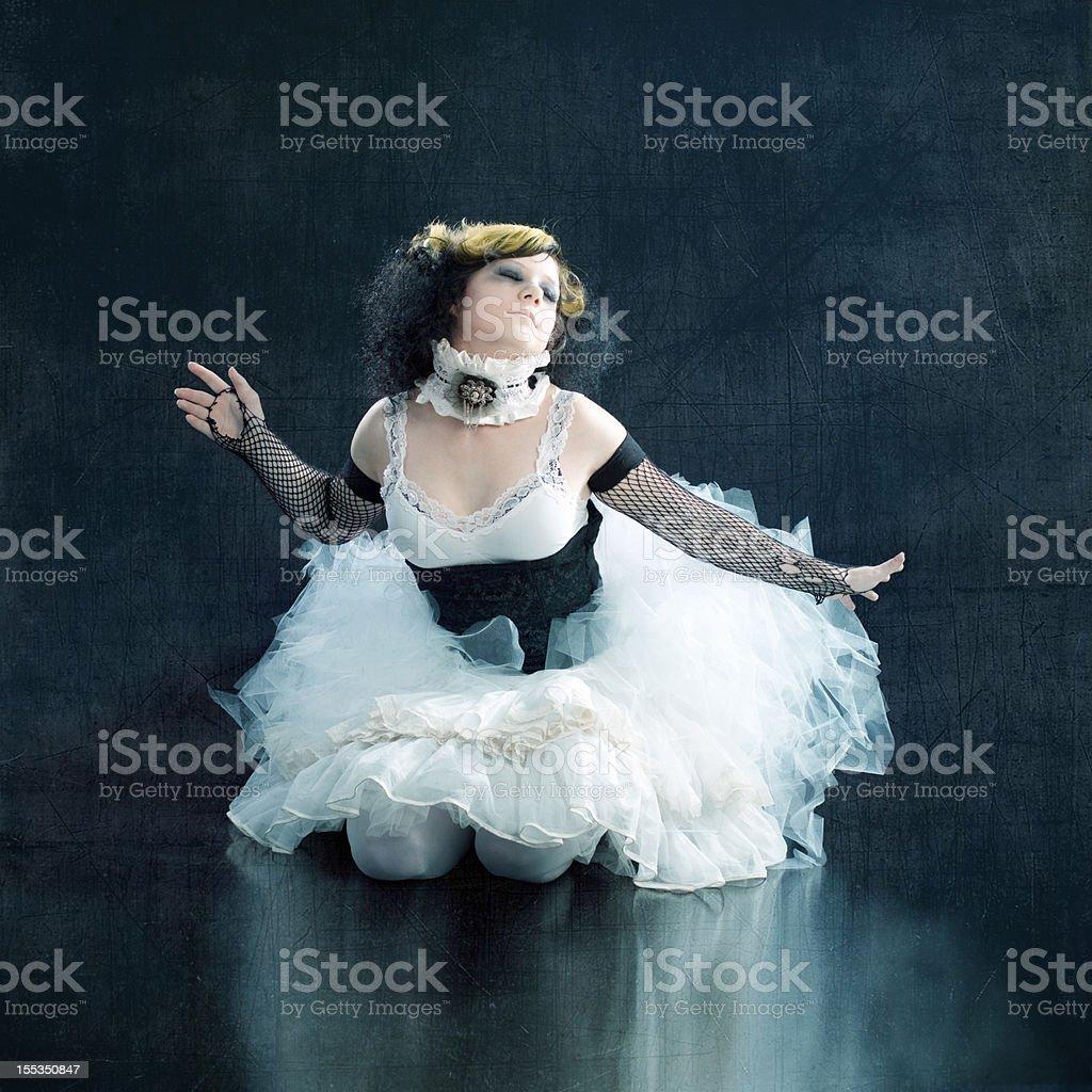 Teenage Girl in Period Costume stock photo