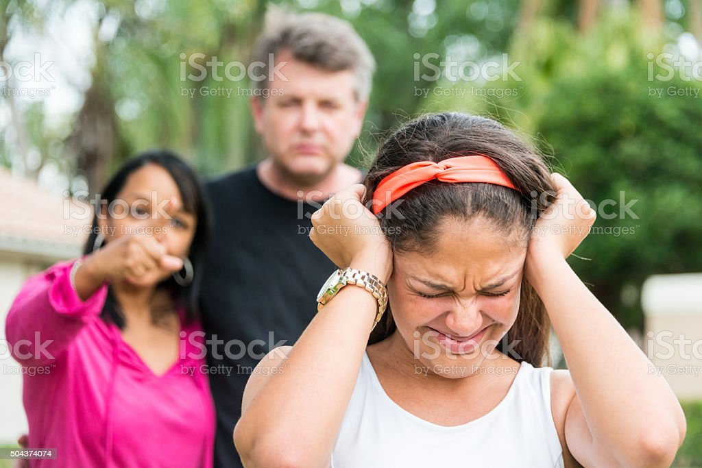 Teenage girl in trouble stock photo
