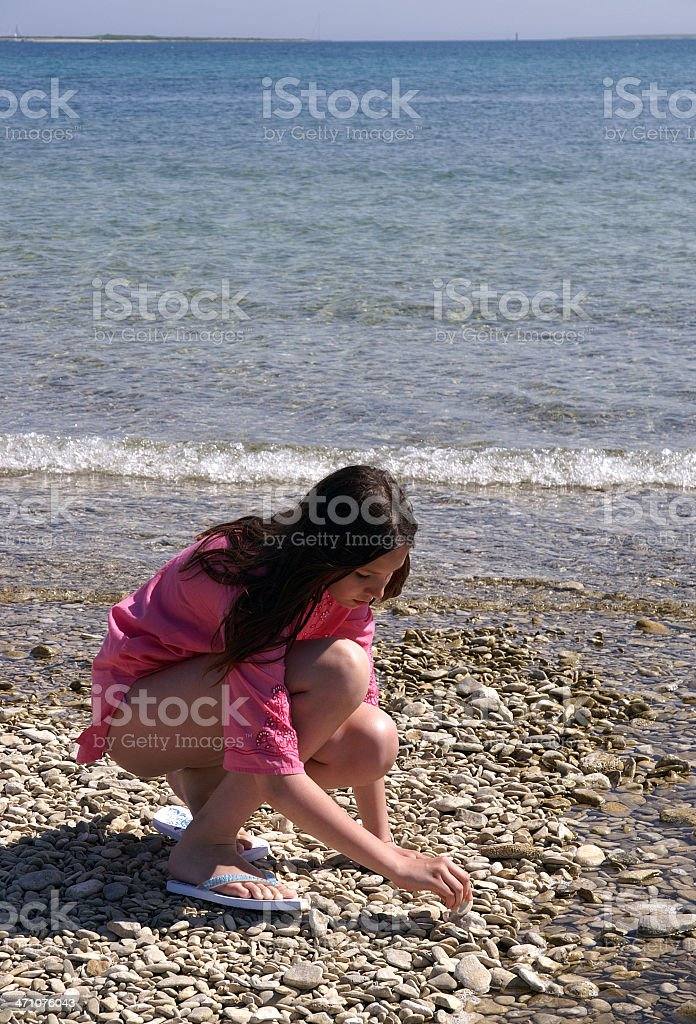 Teenage girl on a beach royalty-free stock photo