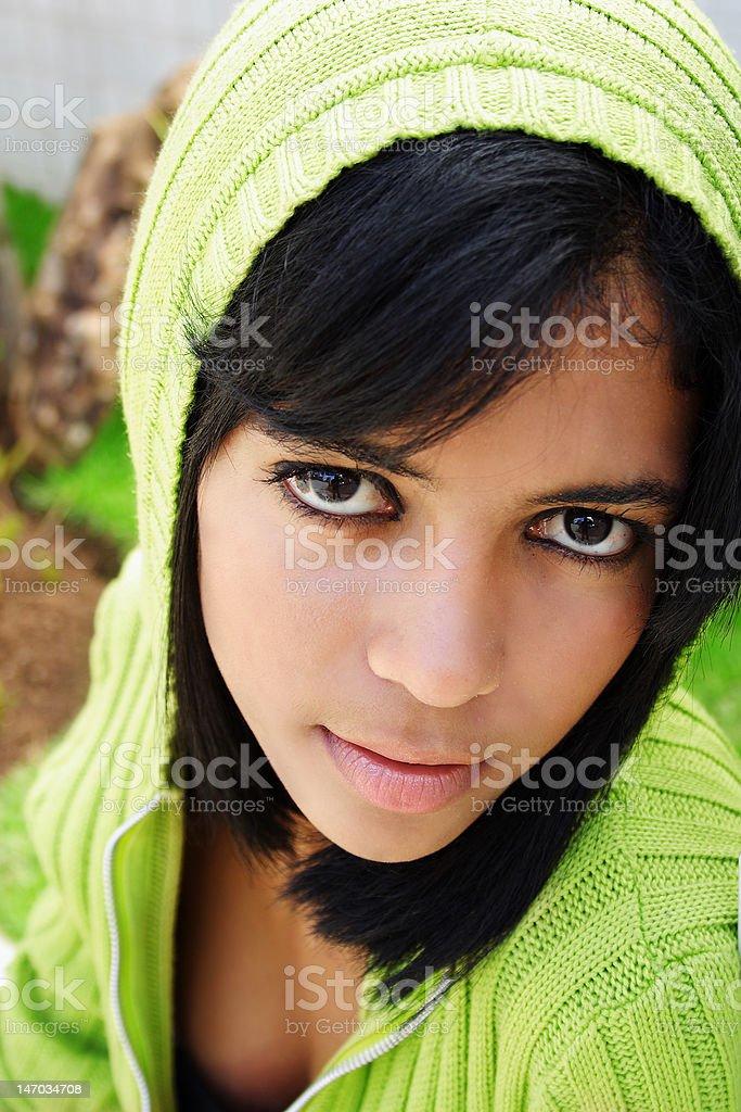 Teenage girl royalty-free stock photo