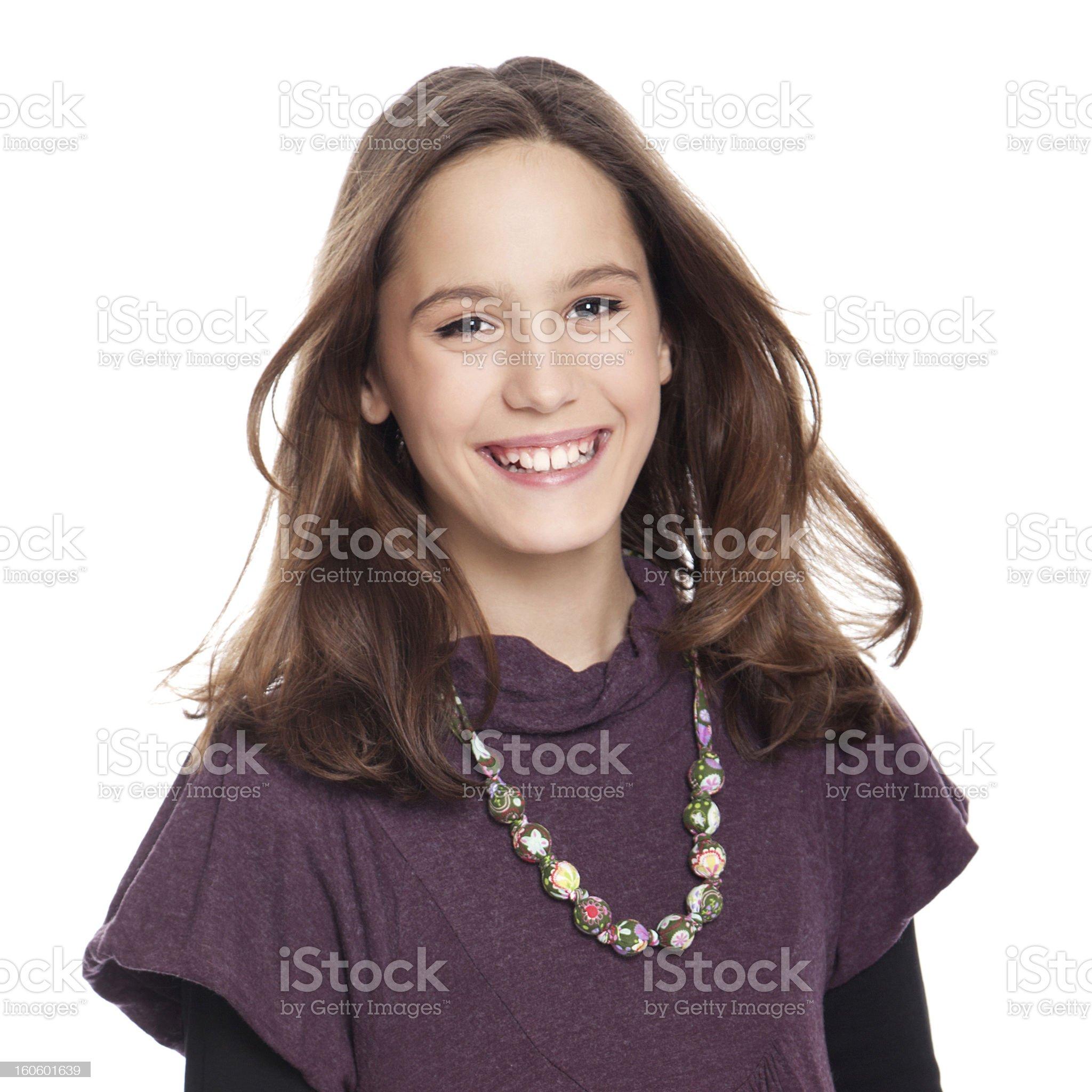 Teenage girl. royalty-free stock photo