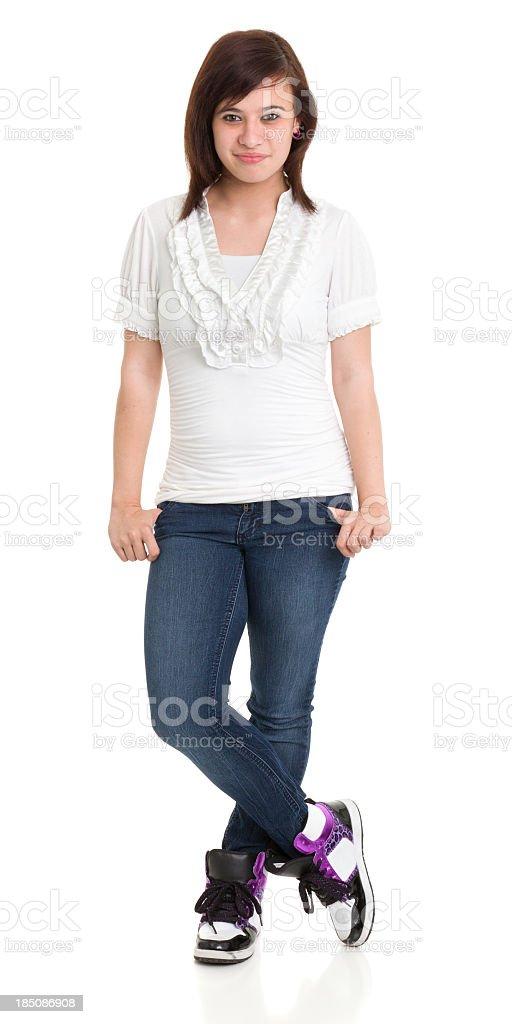 Teenage Girl Standing royalty-free stock photo