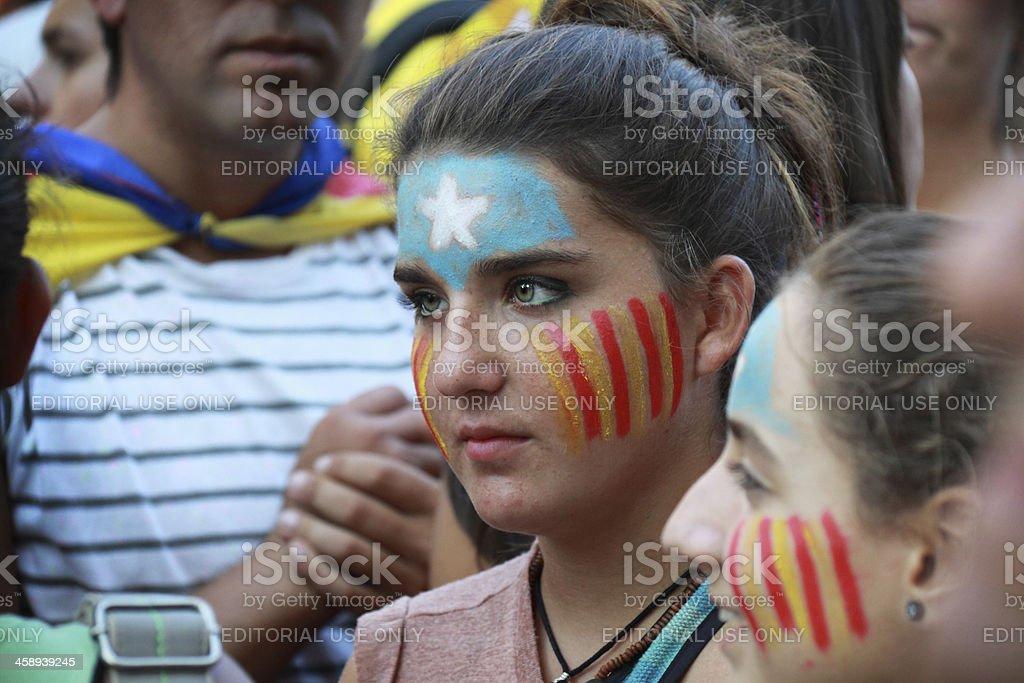 Teenage girl with ceremonial makeup stock photo