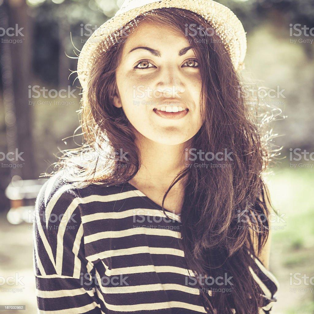 Teenage Girl with Hispanic Roots royalty-free stock photo