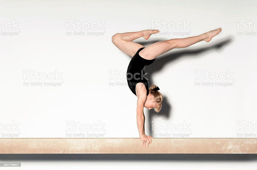 Teenage Gymnast stock photo